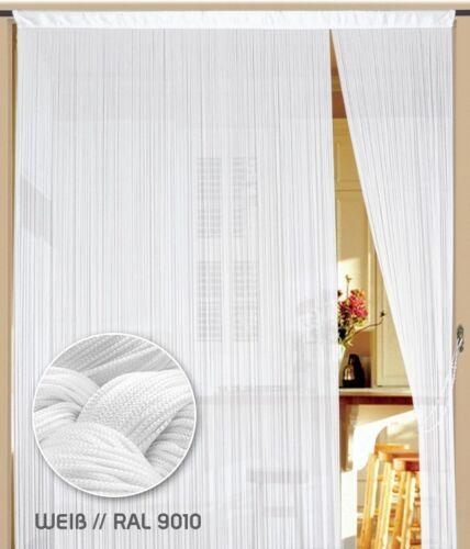 Fadenvorhang Vorhang Fadenstore Fadengardine Messe 300 cm x 300 cm weiß KAIKOON