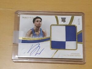 2019-Panini-Immaculate-PJ-Washington-RPA-RC-Auto-53-99-Rookie-Autograph-Patch