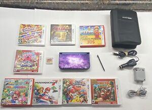 NEW-Nintendo-3ds-XL-Galaxy-Edition-w-Case-9-Games-Mario-Zelda-DK-Kirby-Smash