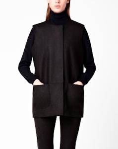 en Zip Taille W Blazer Veste sans manches Warmer Gilet Black laine Cos Body 10 36 Uk gW4EwqPx