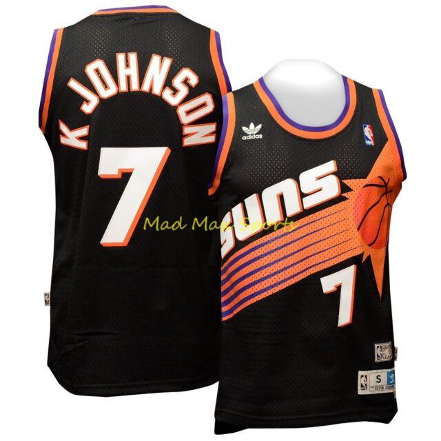 finest selection 519d3 1459f KEVIN JOHNSON Phoenix SUNS Black HARDWOOD Classic THROWBACK Swingman Jersey  Sz L 887775612719 | eBay