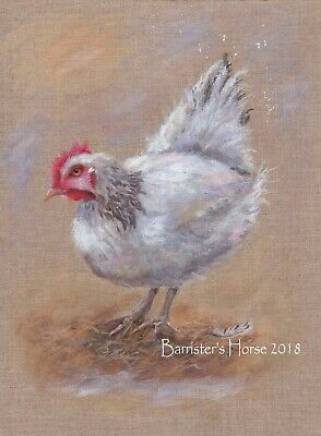 hen picture Collectable A4 Giclee Art Print Watercolour chicken