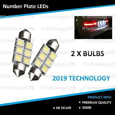 2x Audi A4 B6 Bright Xenon White LED Number Plate Upgrade Light Bulbs