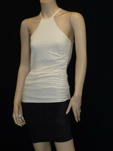 Womens Halter Neck Lace Back Sleeveles Hip Length Fitted Top RA07005 Free P/&P
