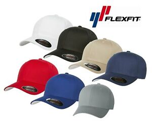 V-Flexfit-Cotton-Twill-Baseball-Cap-Fitted-Flex-Fit-Ballcap-Plain-Blank-Hat-5001