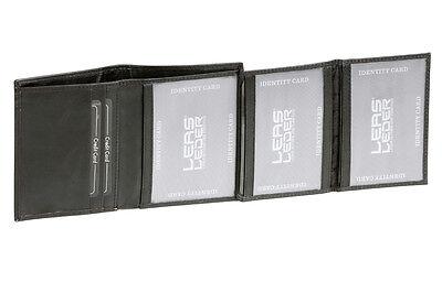 Ausweis- & Kreditkartenmappe Hochwertige Ausführung Leas In Echt-leder, Schwarz Bequem Und Einfach Zu Tragen