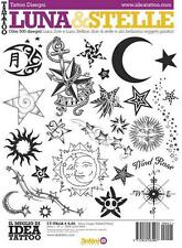 Book of Luna & Stelle  Illustrations - Italy Tattoo Book - Moons and Stars