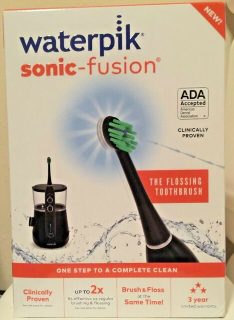 Waterpik SF-01W022-2 Sonic Fusion Flossing Toothbrush - Black