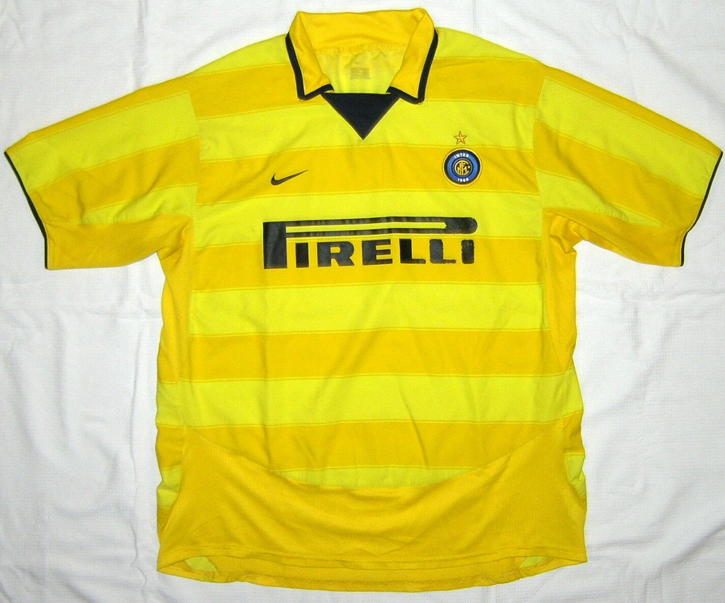 RARCAT Trikot FC INTER MILAN 2003  04 fotbolls away skjorta MAGNI calcio XL