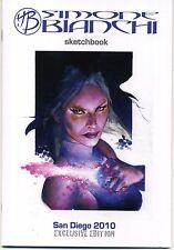 SIMONE BIANCHI Sketchbook SIGNED COA SDCC 2010 Exclusive Psylocke LTD 600 HTF NM