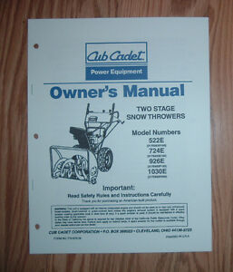 cub cadet cc30 owners manual