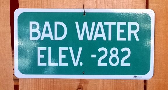 Bad Water Death Valley Elevation Altitude Highway Route Sign