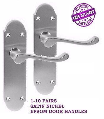 1-10 Satin Interior Door Handles Epsom Interior Door Handle D9