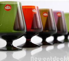 5 Ingrid Glas Cognac Schwenker Schnaps Gläser 60er 50er rockabilly vintage D855