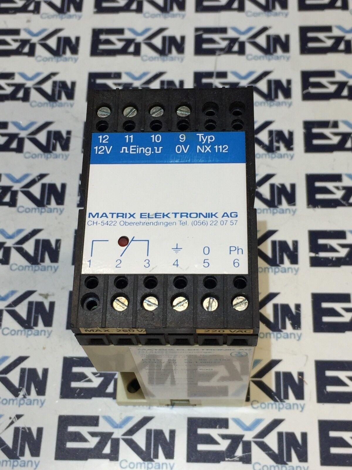 MATRIX ELEKTRONIK AG Typ. NX-112 , 220 VAC
