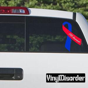 PTSD Awareness Ribbon  Vinyl Wall Decal or Car Sticker