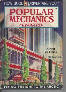 Magazine Popular Mechanics April 1937 Flying Freight To Arctic Aerial Acrobat