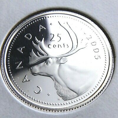 2005 Canada Silver Proof 25 Cents