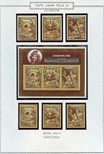 POPE JOHN PAUL II LOT PENRHYN   OF STAMPS AND SOUVENIR SHEETS  MINT NH