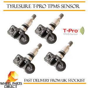 4 X Negro TPMS sensores Jaguar XF 2008-2015 Sensor de la presión del neumático