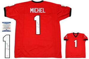 Sony Michel Autographed SIGNED Jersey - Red - Beckett Authentic | eBay