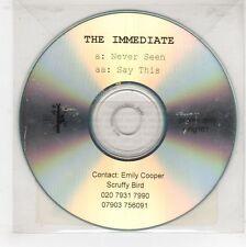 (GJ522) The Immediate, Never Seen / Say This - 2004 DJ CD