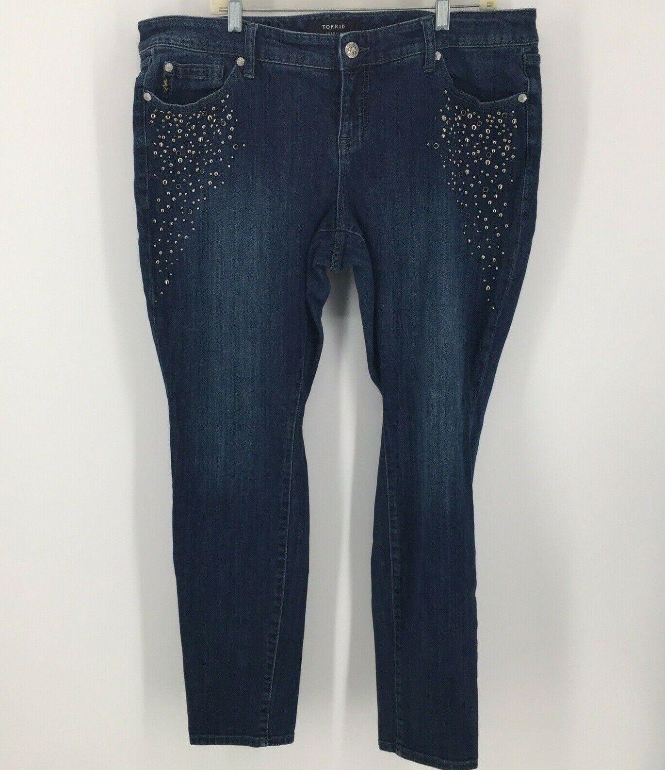 Torrid Premium Stretch Studded Skinny Jeans Size 16