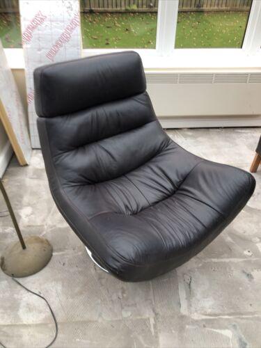 Brown Faux Leather Swivel Easy Chair - Alan Ward