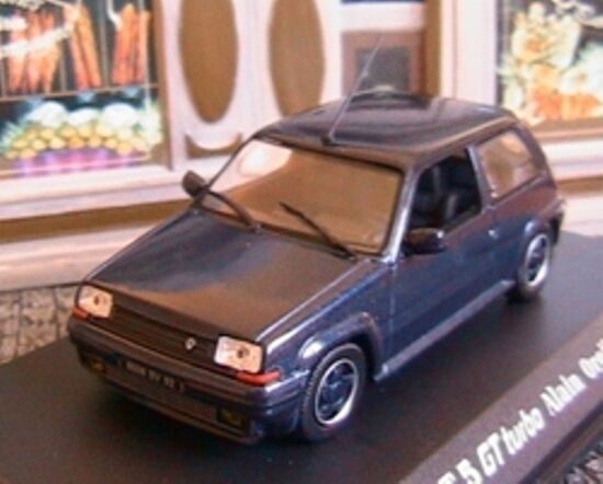 RENAULT 5 GT TURBO 1989 ALAIN OREILLE UNIVERSAL HOBBIES 1 43 SUPER CINQ blue