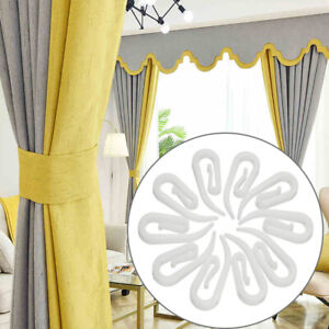 50-Pcs-Curtain-Shower-Curtain-Liner-Hook-Hanger-Plastic-Ring-Loop-Clasp-Durable