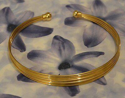 Bracelet Jonc Esclave Ouvert Boule 70-55 mm Plaqué Or 18K 5 Microns Dolly-Bijoux