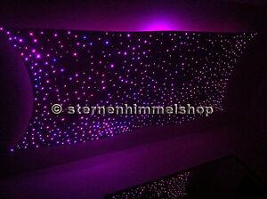 glasfaser sternenhimmel mit led technik 200 lichtfaser komplett einbau set ebay. Black Bedroom Furniture Sets. Home Design Ideas