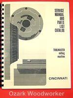 Cincinnati Toolmaster Milling Machines 1b, 1c, 1d, 1e, H-v Service Manual 0127