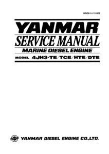 YANMAR 4TNE92-NMH NMHA 4TNE98-NMH SERVICE MANUAL REPRINTED COMB BOUND