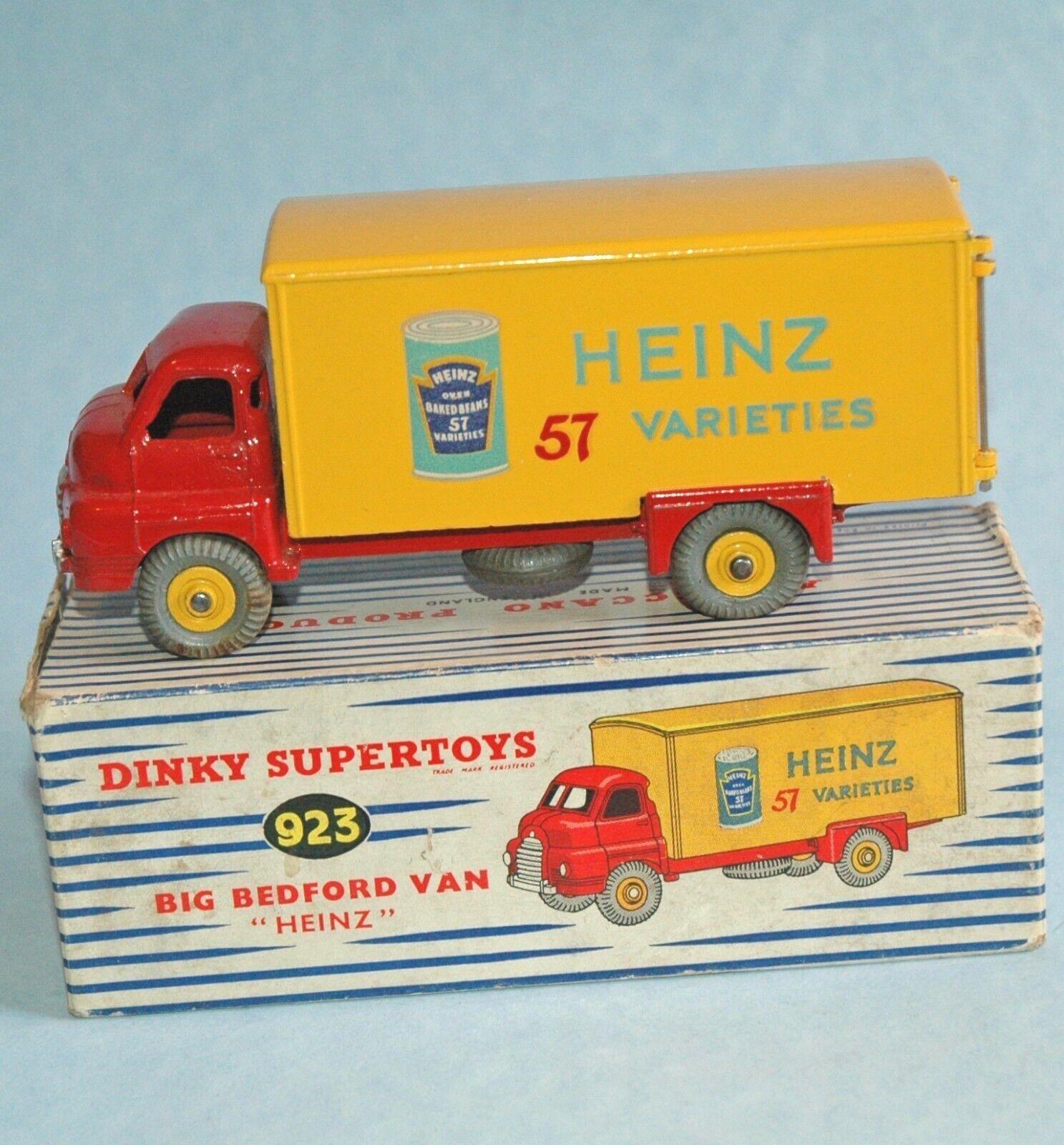 Dinky Meccano 1955 grandes Bedford Van Heinz 57 variedades judías 923 En Caja
