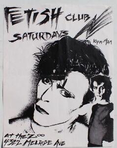 Vtg-1980s-Fetish-Club-At-The-Zoo-Melrose-Ave-Punk-Rock-Concert-Flyer-CA