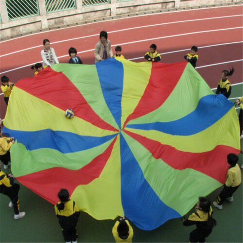 16ft Kids Play Rainbow Parachute Outdoor Game Development Exercise Ts