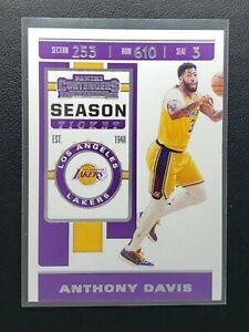 2019-20 Panini Contenders Anthony Davis Season Ticket, Los Angeles Lakers