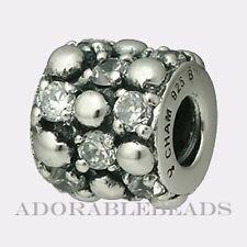 Authentic Chamilia Silver Clear Gleaming Splendor Bead JB-33 *RETIRED*