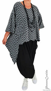 LAGENLOOK Oversize Jacke Shirt Überwurf XL-XXL-XXXL 46 48 50 52 54 56 58 weiß