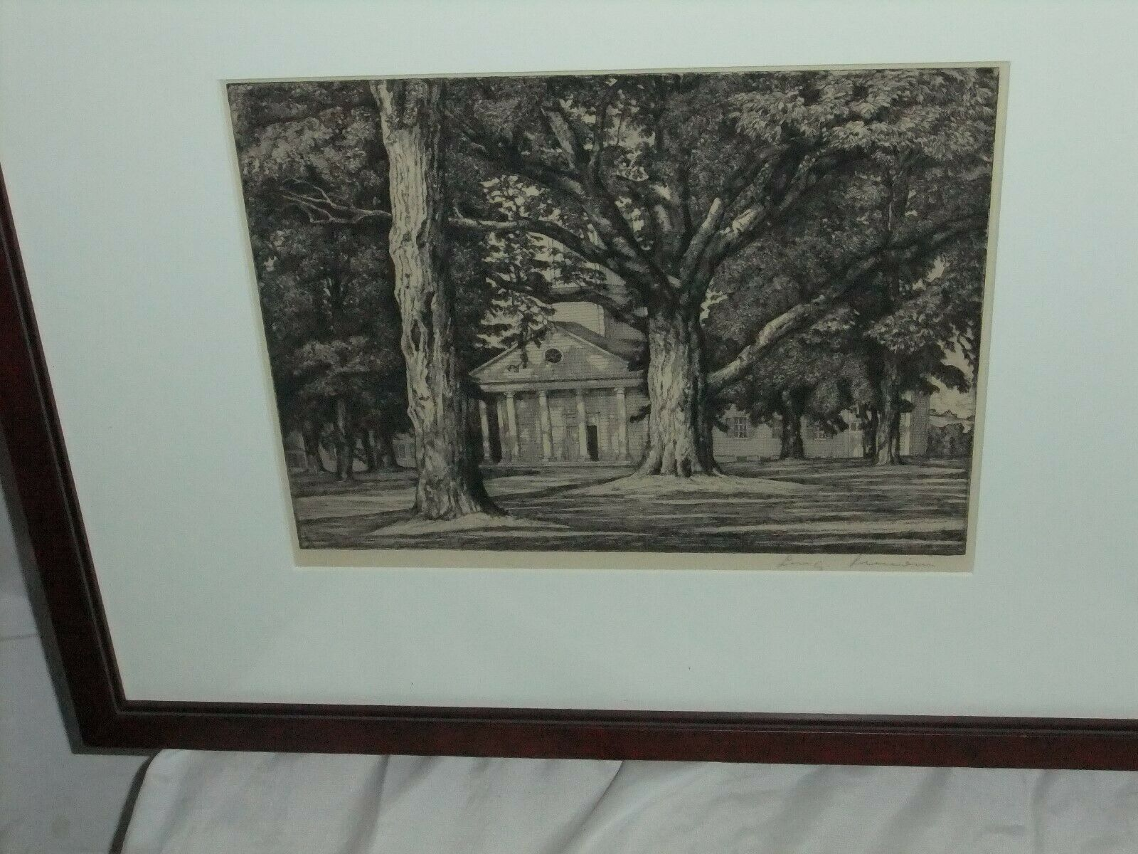 Signed Original Etching Luigi Lucioni Exterior Church Trees on eBay thumbnail