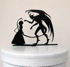 wedding cake topper - Halloween Wedding Cake Topper, Devil ...