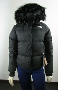 NWT Womens The North Face TNF Dealio Crop Jacket 550-Down Winter Jacket - Black