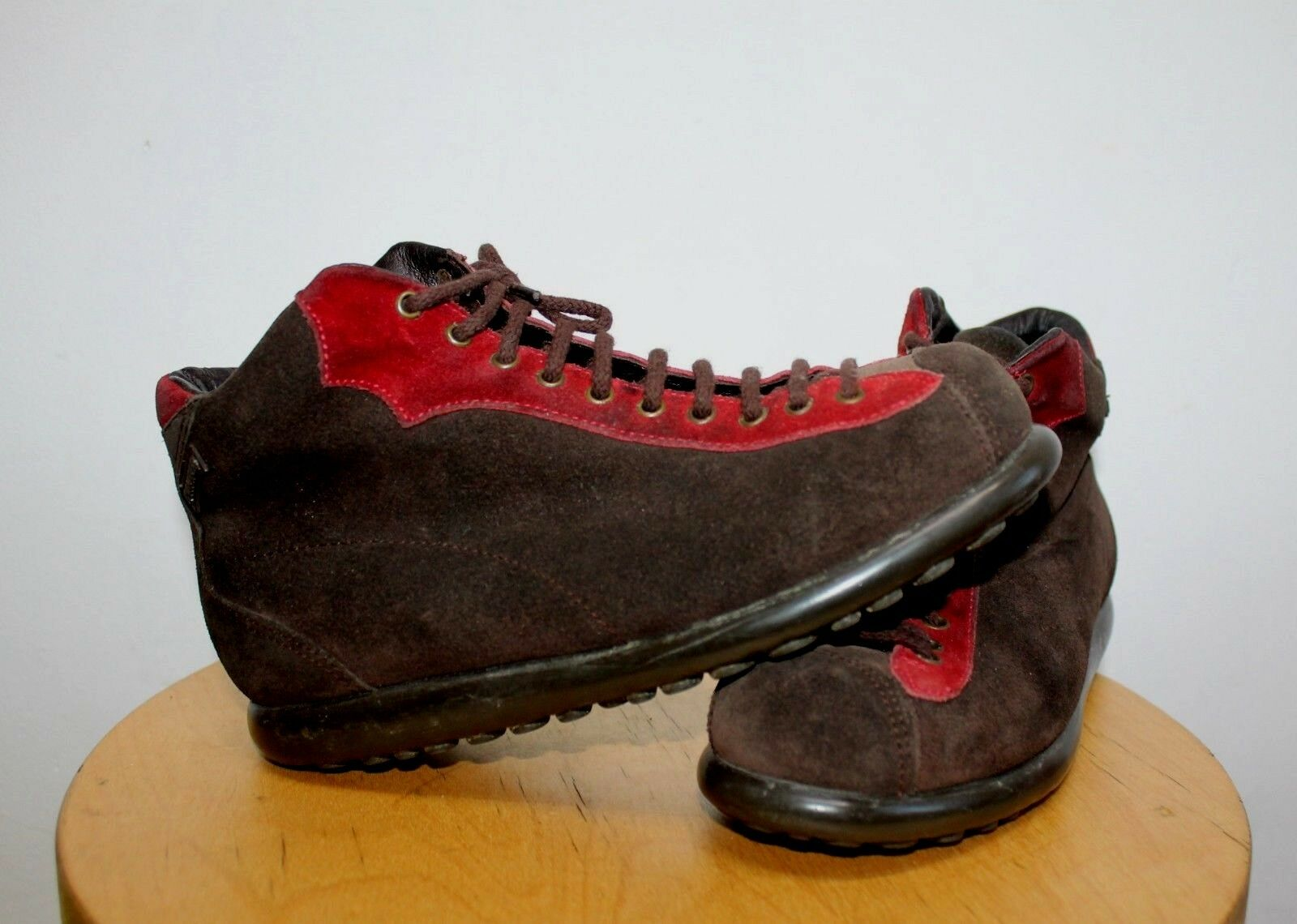 Camper Pelotas Bottes Bottines Chaussures Pointure Rouge Marron à Lacets EU 36 UK 3