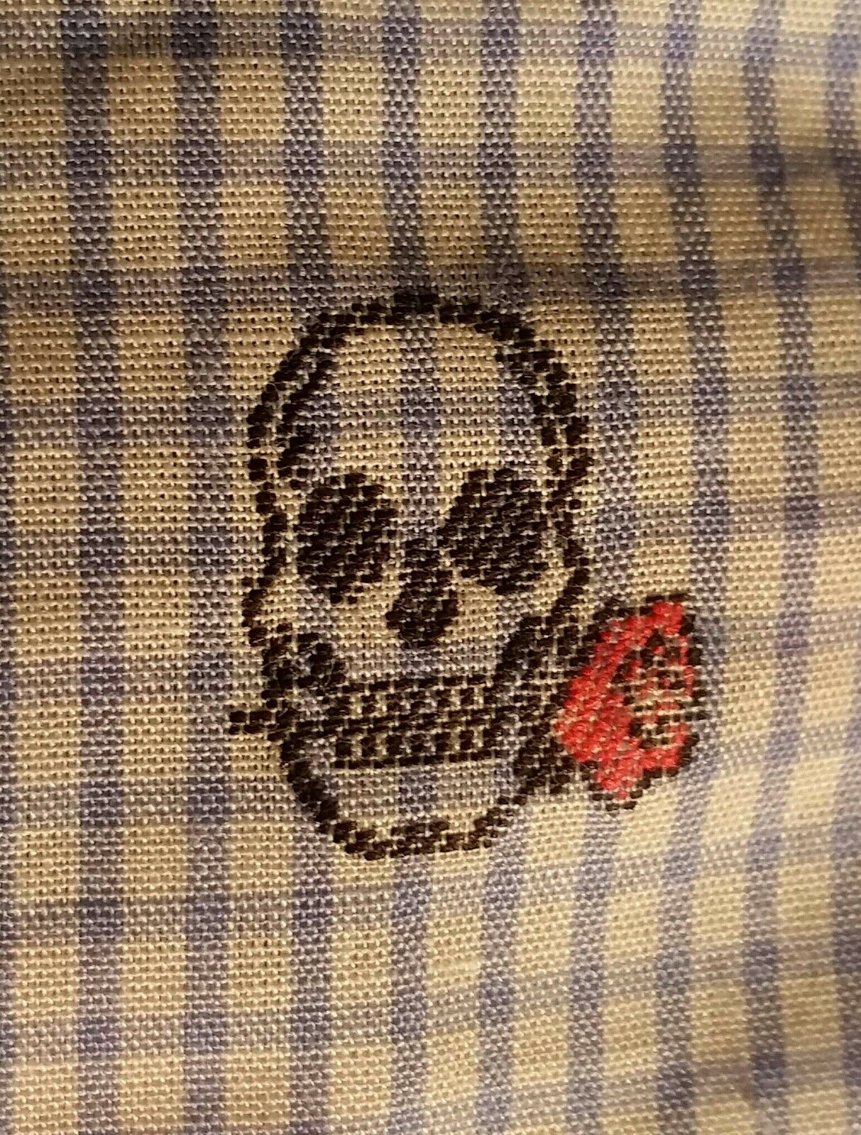 Robert Graham Delcoa Print Woven Shirt Skulls Light bluee 2XL GREAT GIFT