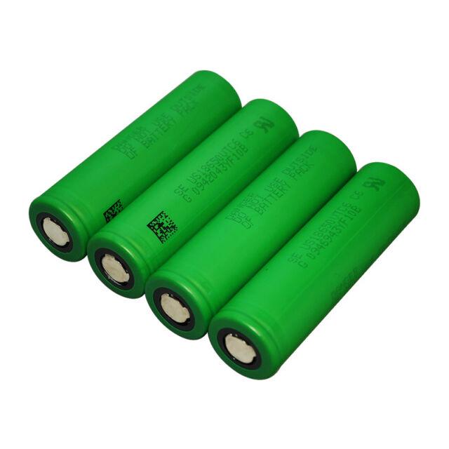 4PCS Sony Li-ion 18650 VTC6 Batteries US18650VTC6 Rechargeable 3.7V 3000mAh 30A