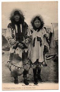 CPA-USA-Alaska-Mere-et-fille-autochtones-native-Ed-Levenq-amp-Cottin