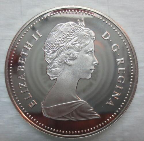 1981 CANADA CPR CENTENNIAL PROOF SILVER DOLLAR COIN