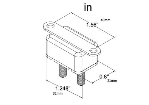 12V 30A//40A//50A  Auto Automatic Fuse Reset Circuit Breaker Copper Stud Bolt Type