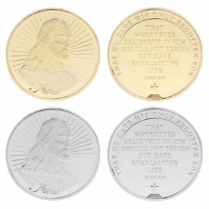 Silver-Gold-Jesus-Saying-Bless-Commemorative-Coin-Collection-Souvenir-Art-Craft